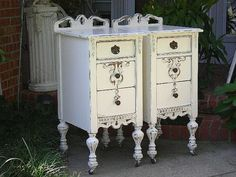 CUSTOM ORDER Your Own Shabby Chic NIGHTSTANDS by RedBarnEstates, $750.00