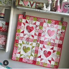 This is too cute. Thank you @jenicraftgirl. #southernfabric #sewing #heartquilt