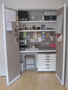 Desk In Closet built-in storage ideas | built in desk, nooks and office nook