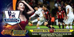 Prediksi Swansea vs Bournemouth, Prediksi Bola Swansea vs Bournemouth, Swansea City vs Bournemouth akan bertemu di partai lanjutan Liga Primer Inggris yang rencananya akan digelar pada hari Sabtu, 31 Desember 2016 Pukul 22:00 WIB dan disiarkan secara live dari Liberty Stadium, Swansea.