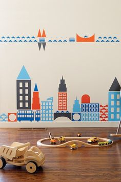 boodalee city wall decals...this site has so many great wall decals...how will i choose??