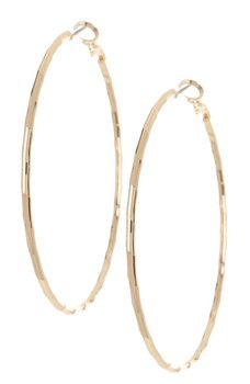 14th & Union - Large Textured Hoop Earrings