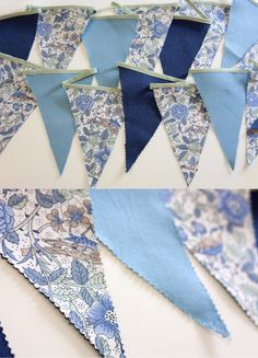 How to cut the bunting without fray.                                                                                                                                                                                 More