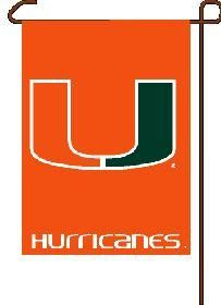 Miami Hurricanes Garden Flag 11x15