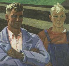 Friends  1962 year  Oil on canvas  Kiev Museum of Russian Art