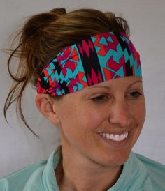 Aztec Printed Spandex Headband