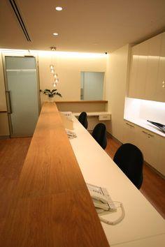 Dr. Maloof - Reception Desk Detail