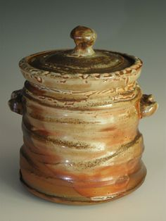 American Shino Glaze Mizusashi (water jar for Japanese Tea Ceremony) - John Baymore's Clay Work - Gallery - Ceramic Arts Daily Community