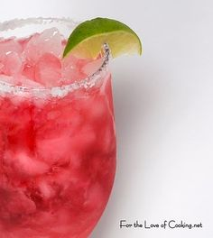 For the Love of Cooking » Pomegranate Margarita for National Margarita Day!