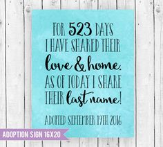 Great way to capture and remember Adoption day! Adoption Day Sign, Adoption Sign, Adoption day Ideas, Adoption party, www.sugarpickledesigns.etsy.com