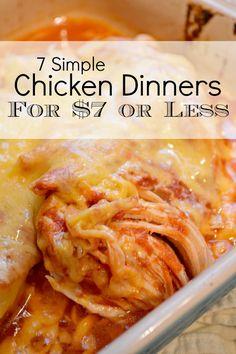 Dinner Recipes With Chicken Under $7. Supper Inspiration!