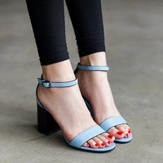 2014 new summer women's shoes blue band crude sandals fashion high-heeled shoes lady's pumps size 35-39 mixed PU leather 4 $122.48