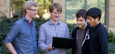 Stanford doctoral students Rob Voight and Richard Socher, masters student Kai Shent Tai, and Romain Paulus, a visiting scholar