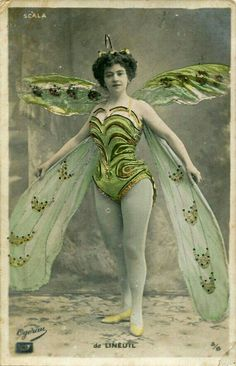 Butterfly Fairy Blank Note Card Proscenium Series Old Time Movie And Stage Divas by RTFX on Etsy Images Vintage, Photo Vintage, Vintage Pictures, Vintage Photographs, Mode Vintage, Vintage Art, Vintage Green, Ballerine Vintage, Vintage Beauty