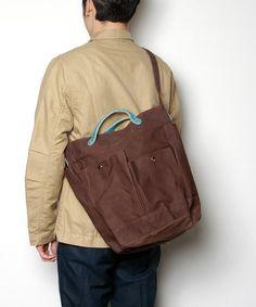 hobo(ホーボー)のhobo - Paraffin Coated Canvas #6 Tool Shoulder Bag(ショルダーバッグ)|ブラウン