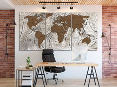 World map canvas World map decor Large world map Travel art Push pin map canvas Extra large wall art Travel poster Push pin canvas World map print Gift idea Brown map art decor Travel wall decor Brown canvas Easy Canvas Art, Large Canvas Art, Canvas Art Prints, Travel Wall Decor, World Map Decor, Gaming Wall Art, Recycled Art Projects, Modern Pop Art, Toddler Art Projects