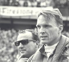 Dan Gurney (R) with A. Foyt at Le Mans in Photo courtesy Ford Motor Company. Can Am, Ferrari, Shelby Car, Dan Gurney, Le Mans 24, Carroll Shelby, Ford Gt40, Michael Schumacher, Henry Ford