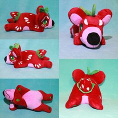 Our factory made plush examples are in & they are perfect! 14 inches in size, made of extremely soft minky fabric with embroidery detail & are very cuddly! Minky Fabric, Plushies, Dinosaur Stuffed Animal, Embroidery, Fruit, Toys, Activity Toys, Needlepoint, Stuffed Animals