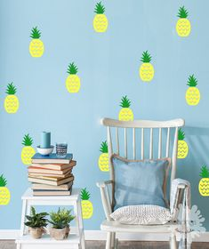 These adorable Pineapple wall decals will add special touch to your Home. These can be easily applied or removed, leaving no residue to your walls. These individual vinyls can be arranged however you want. * Picture is for reference only and may NOT accurately represent the actual size. You can choose 2 color option. - Color 1 : pineapple top - Color 2 : pineapple bottom   ** FEATURES ** • 22 pineapples (22 tops & 22 bottoms) • Size : 5H /each (top: 2H, bottom: 3H)  ** INCLUDES ** • ...