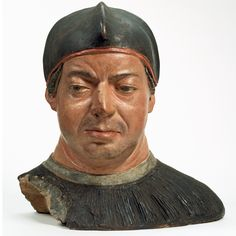 Bust of Cardinal Giovanni de' Medici (later Leo X), attributed to Antonio de'Benintendi, about 1512.