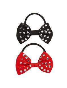 Studded Bow Ponytail Holders