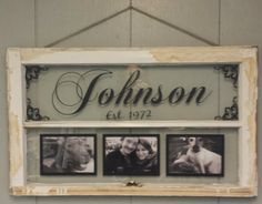 Vintage Window Two Pane Family Name by VaughnCustomCreation, $75.00