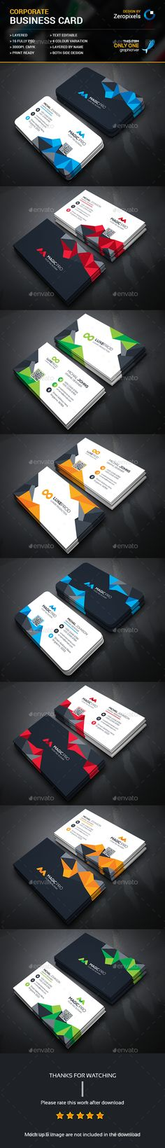 Abstract Business Card Bundle