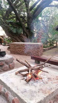 Silver Leaves wedding and conference venue accommodation is set around a bush camp with eight thatched African chalets.