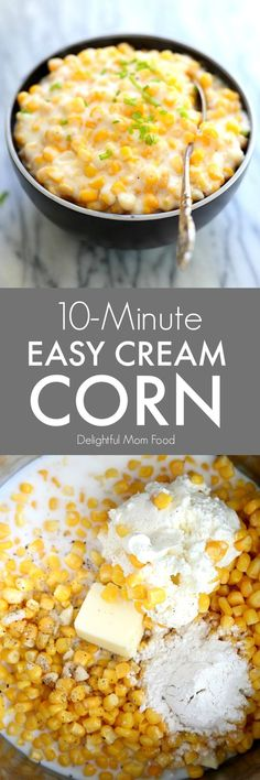 10-Minute Cream Corn Recipe | Delightful Mom Food
