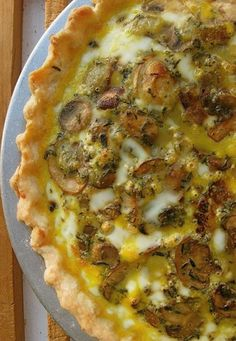 mushroom cheddar quiche. This is basic good. Play with it, make it your own.