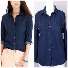 Relaxed Dark Button Shirt NWT Relaxed Dark Button Shirt. Old Navy Tops