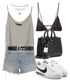 """Untitled #2520"" by mariie00h ❤ liked on Polyvore featuring Minimale Animale, Alexander Wang, Gucci, Yves Saint Laurent and NIKE"