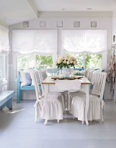 Dress Up Your Chairs in Vintage Linen