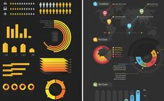 This post features a collection of free infographic design kits that could help you creating your own presentation. Free Infographic, Infographics, Presentation, Web Design, Templates, Ecommerce Platforms, Inspiration, Knowledge, Food
