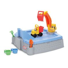 Little Tikes Big Digger Sandbox (050743624520) Dig in to the action and fun with this construction site sandbox by Little Tikes that features a working excavator to move sand then haul away in the dump truck. Gift Givers: This item ships in its original packaging. If intended as a gift, the packaging may reveal the contents. PRODUCT FEATURES Sand area features molded in ramps & roadways Use the real working excavator to dig in the sand & load up the dump truck Truck ramp doubles as lid to…