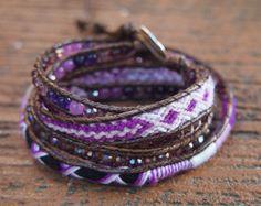 Amazoniet mix wrap armband Boheemse armband armband Boho