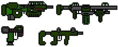 8-bit weapon Quad pack by ~halo-man on deviantART
