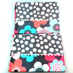 White Polka Dots On Soft Grey With Fun Flowers