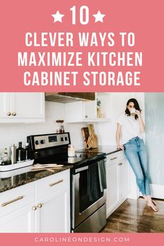 10 Clever Ways to Maximize Kitchen Cabinet Space Kitchen Cabinet Storage, Cabinet Space, Storage Cabinets, Kitchen Cabinets, Interior Decorating Tips, Interior Design Tips, Interior Ideas, Shop Cabinets, Custom Cabinets