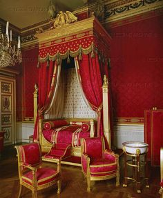 Bedroom of Napoleon I in Compiegne. Furniture by Jacob Desmalter