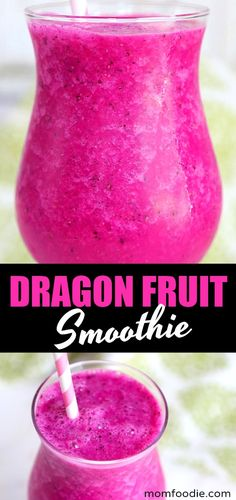 Dragon Fruit Smoothie Recipe - This healthy pink dragon fruit smoothie is easy to make and vegan too! Dragon Fruit Smoothie Recipe - This healthy pink dragon fruit smoothie is easy to make and vegan too! Dragon Fruit Smoothie, Healthy Fruit Smoothies, Diet Smoothie Recipes, Fruit Smoothie Recipes, Raspberry Smoothie, Fruit Drinks, Smoothie Diet, Pink Smoothie Recipe, Antioxidant Smoothie