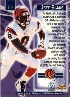 1996 Score Board NFL Lasers - Laser Images #I5 Jeff Blake Back