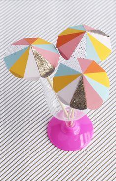 Paper umbrella drink stirs >> Free to print