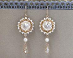 Orecchini di perle lungo. Sposa Orecchini perla orecchini di