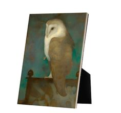 Big Owl on Screen on tile with easelback Exhibition Space, Art Reproductions, High Gloss, Masters, Tiles, Owl, Museum, Display, Ceramics