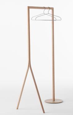Hanger rack - Splinter collection by Nendo. Photo: Yoneo Kawabe.
