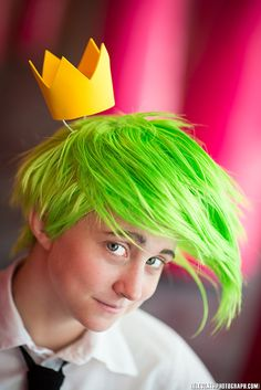 Among Bobbins and Thread: Cosmo - Wig & Crown - Fairly Odd Parents