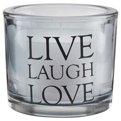 Glass Script Candle Holder - Live Laugh Love/Candle Holders/Accents/Home Accents|Bouclair.com
