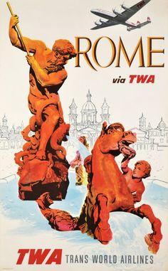TWA, Rome via TWA, Trans World Airlines