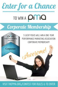 Win one year performance marketing association corporate membership